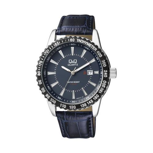 Reloj Hombre Q&q A450j, Analogo Acero Cuero Calendario Wr50m
