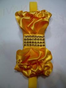 Cintillo Con Cinta Elástica En Color Amarillo