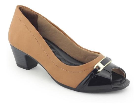 Sapato Feminino 1864305 Salto Confortável - Comfortflex