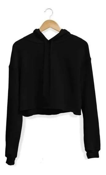 Moletom Feminino Cropped Blusa Casaco Blusa De Frio Envio Ja