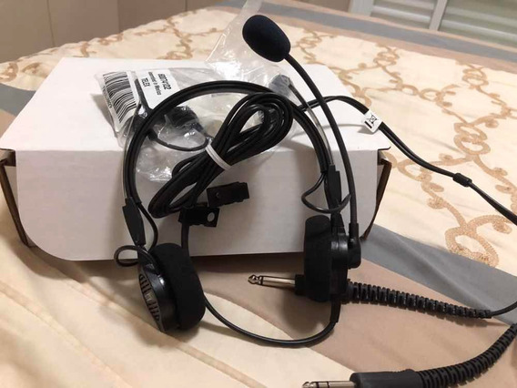 Headphone Telex Airman 750 Dual Plug C/ Adaptador Airbus 320