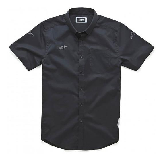 Camisa Alpinestars Aero S/s Shirt Manga/c Negra Casual Mx