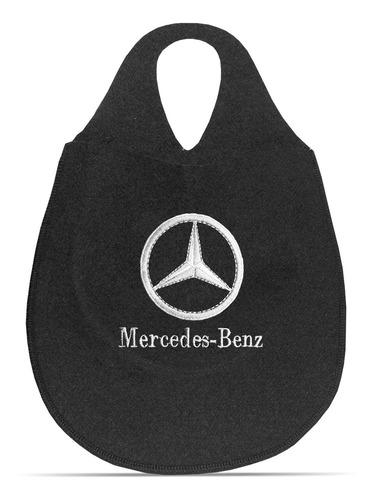 Imagem 1 de 5 de Lixeira Automotiva Cambio Logo Mercedes Benz Carpete Bordado