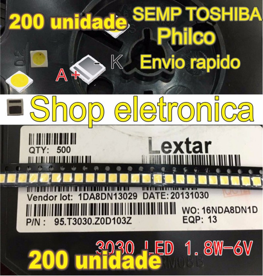 Led Smd Tv 6v 1.8w 3030 Backlight Semp Philco 200 Pcs