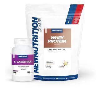 Kit Whey Protein + L-carnitina Newnutrition