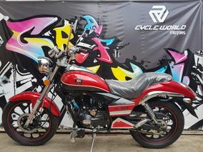 Moto Gilera Yl 200 Custom 2018 0km Rojo Al 12/7