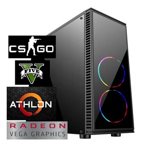 Pc Athlon 200ge Cpu Gamer Amd 8gb Hd 500gb Vga Vega 2gb