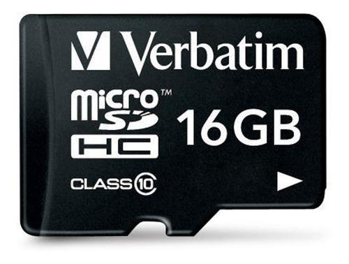 Memoria Micro Sd Sdhc Verbatim 16 Gb Clase 10 Fscomputers