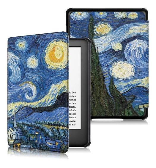 Case Capa P/ Kindle 10ª Geração C/ Tampa Magnética Van Gogh