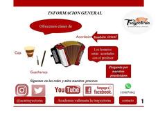 Clases De Acordeón Vallenato/ Virtual/ Presencial/ Vídeos