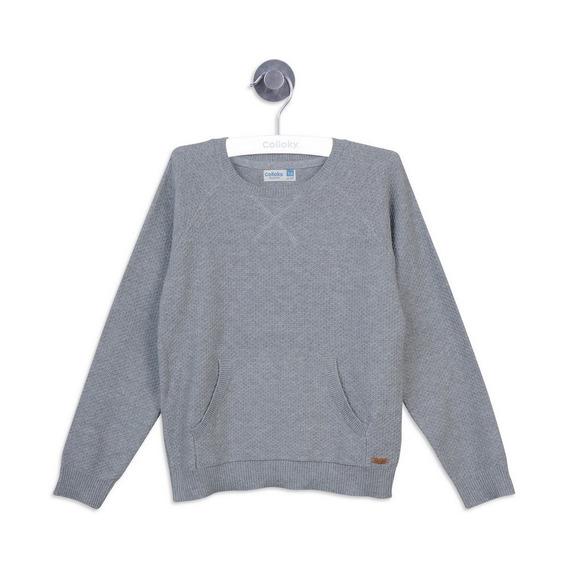 Sweater Gris Melange Boy Colloky
