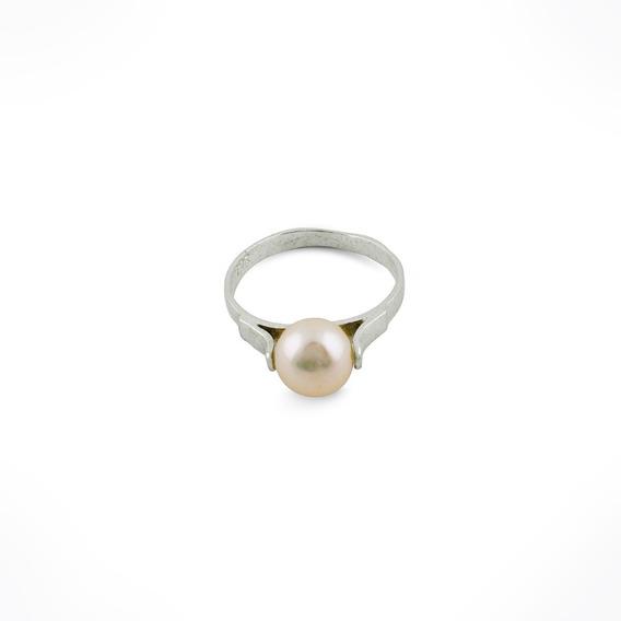 Anillo Mujer Medio Dedo Con Perla Cultivada Plata 925 Midi