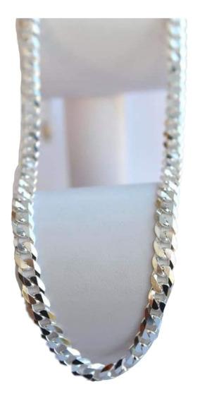Cadena Cubana Plata 925 Diamantada 65cm X 5mm