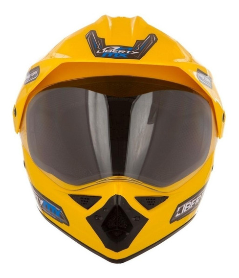 Capacete para moto cross Pro Tork Liberty MX Pro Vision amarelo M