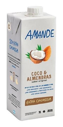Imagen 1 de 6 de Leche Almendras Y Coco 1 Lt Sin Azucar Vegana - Amande