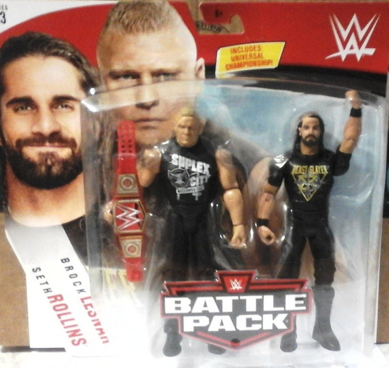 Wwe Seth Rollins Vs Brock Lesnar Battle Pack