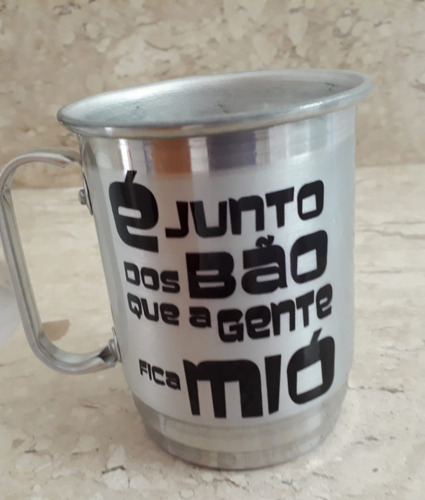 Imagem 1 de 2 de Caneca De Alumínio Fique Firme