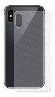 Película Fibra Carbono Traseira Iphones Varios Modelos Novo