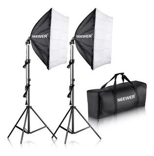 Softbox 24 X16 Socket Kit De Luces Fotografia Canon Nikon