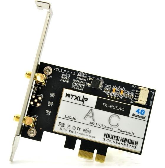 Rede Sem Fio Wifi Pcie Dual Band + Bluetooth Desktop 5ghz Ac
