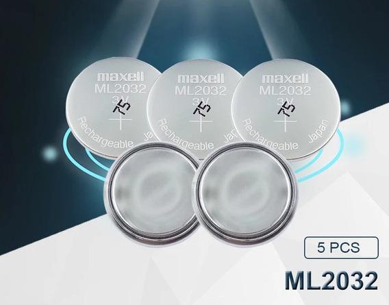 Baterias Originais Maxell Ml2032 Recarregaveis 5 Unidades