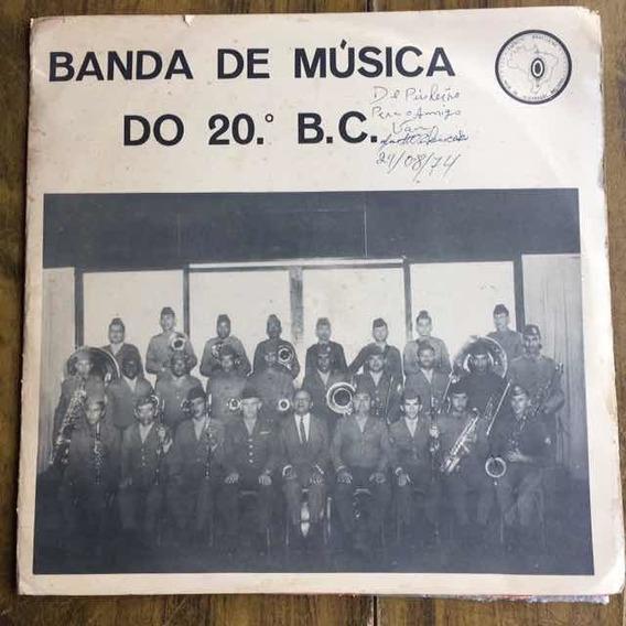 Lp Banda De Música Do 20 B.c 1970
