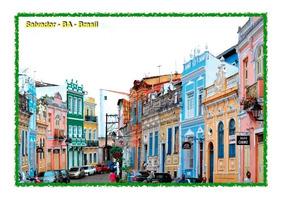 Set Com 6 Cartões Postais De Salvador Ba