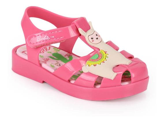 Sandália Rasteira Infantil Grendene Barbie Love Baby