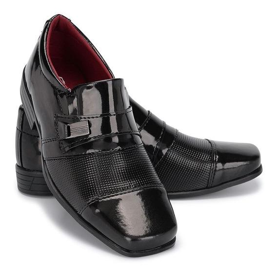 Sapato Social Infantil Masculino Luxo Casamento Uniforme 444