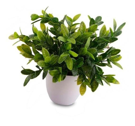 Maceta Planta Jazmin Artificial Decoración