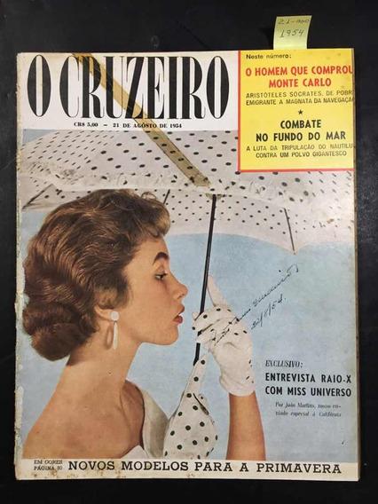 O Cruzeiro N°45 - Entrevista Com Miss Universo - 21/08/1954