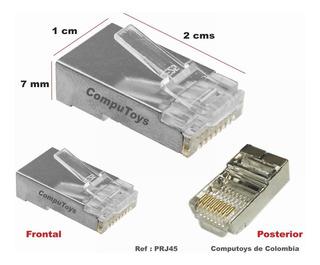 Zprj45 Rj-45 Metalico Categoria 5-6-6a Qprj45q Compu-toys