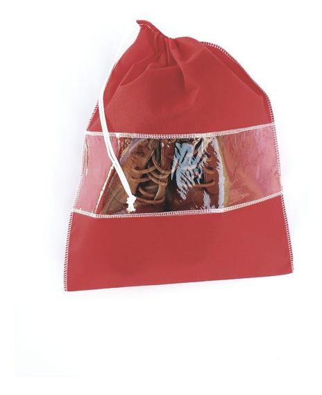 Kit De 12 Saco Organizador Tnt Vermelho Para Guardar Sapato