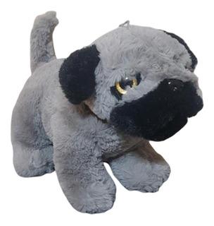 Perro Bulldog De Peluche 36cm Ojos Brillantes