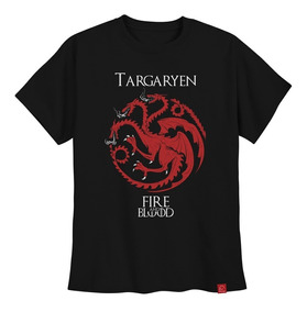 Camiseta Targaryen Game Of Thrones Camisa Fire And Blood