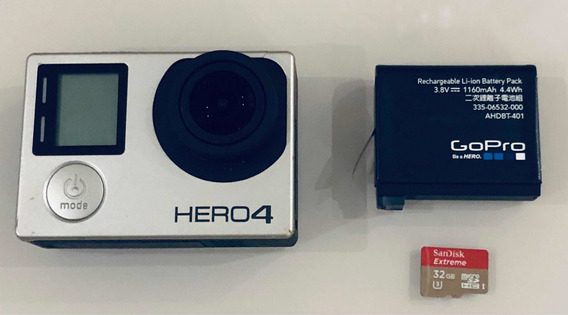 Gopro Hero 4 + Cartao Sd Extreme 32gb + Acessórios