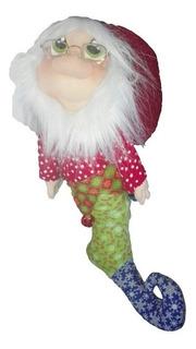 Muñeco Country Papanoel Bota 50cm Peluche Adorno Navidad Lov