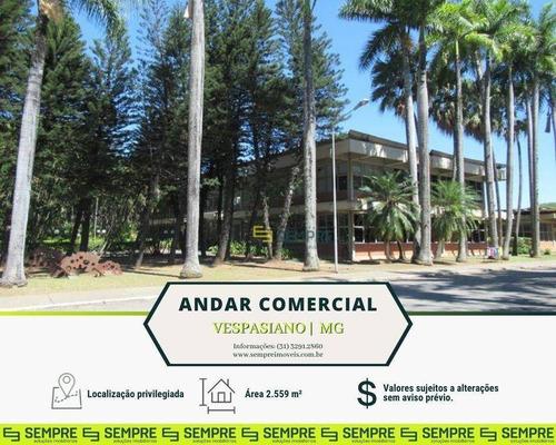 Imagem 1 de 20 de Andar Vão Livre Para Alugar, 2.559 M² - Distrito Industrial B - Vespasiano/mg - Ac0103