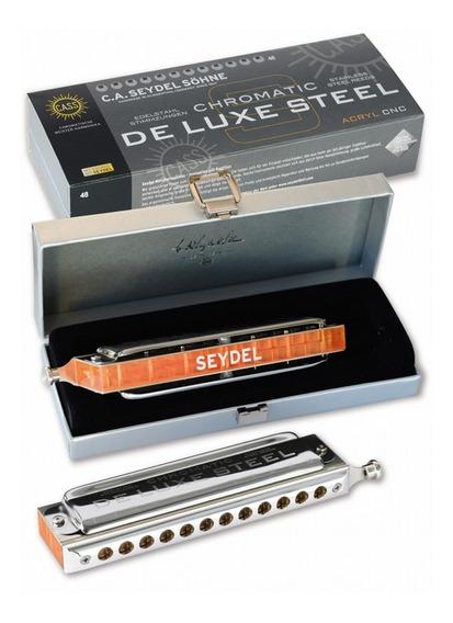 Armonica Seydel Cromatica De Luxe Steel Orchestra 48 Voces C