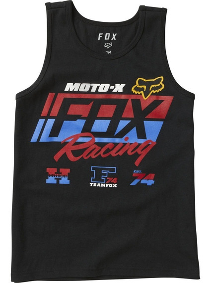 Musculosa Fox Niño First Placed Tank Moto Motocross Negro N