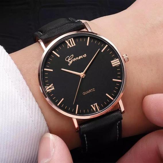 Relógio Masculino Geneva C/caixa Original Presente Namorado
