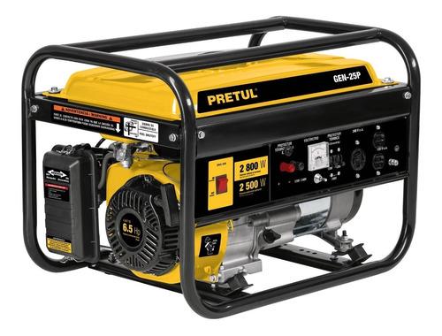 Imagen 1 de 7 de Generador Electrico Planta Luz Gasolina 2500 W Pretul 26034