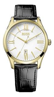 Reloj Hugo Boss De Hombre Con Malla De Cuero Mod 1513020