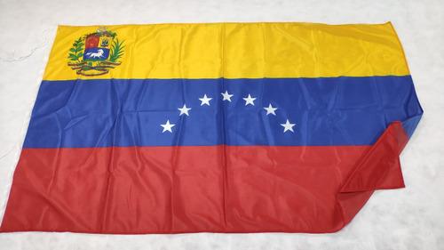 Bandera Venezuela 7 Estrellas Escudo Original 90 X 150cm