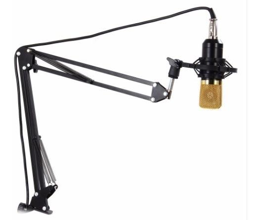 Braco Pedestal Para Microfone Suporte Mesa Radio Studio