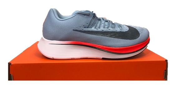 Tênis Nike Zoom Fly Azul E Laranja Original