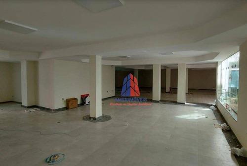 Salão Para Alugar, 320 M² Por R$ 11.000,00/mês - Paraíso - Americana/sp - Sl0186