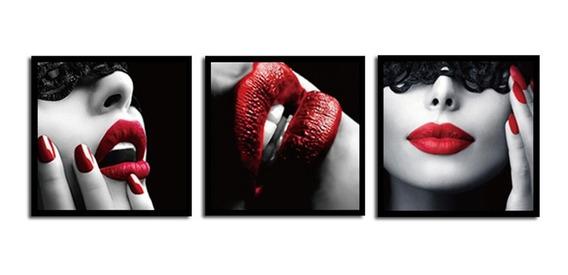 Beleza Lábios Vermelhos Pintura De Parede Pintura Moderna Pi