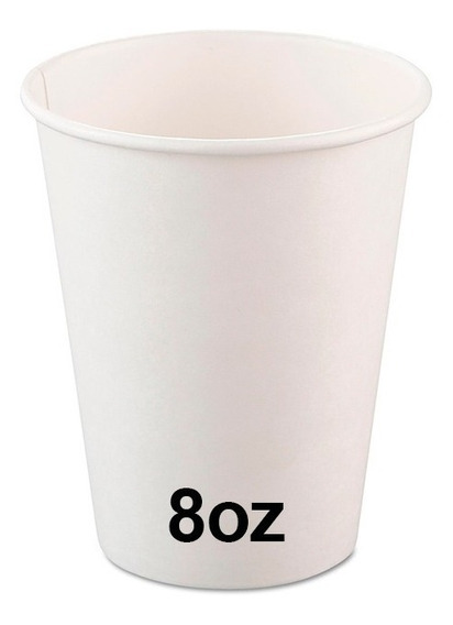 Vaso Descartable Polipapel Blanco 8oz (240cc) X 100