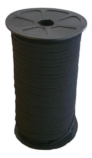 Elástico Negro De 5mm Rollo De 300mtr